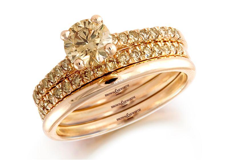 Обручальное кольцо из розового золота Brown & Newirth