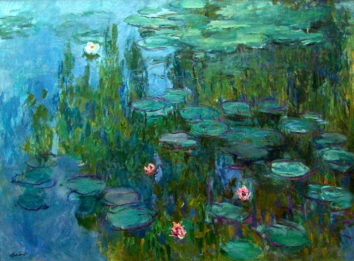 Водяные лилии (белые кувшинки) Клод Моне Claude Monet's Water Lilies