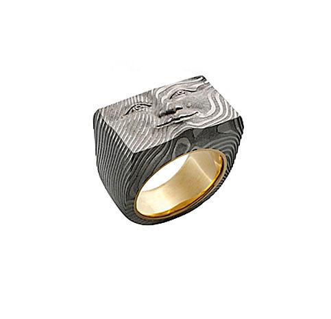 Brick Face Ring