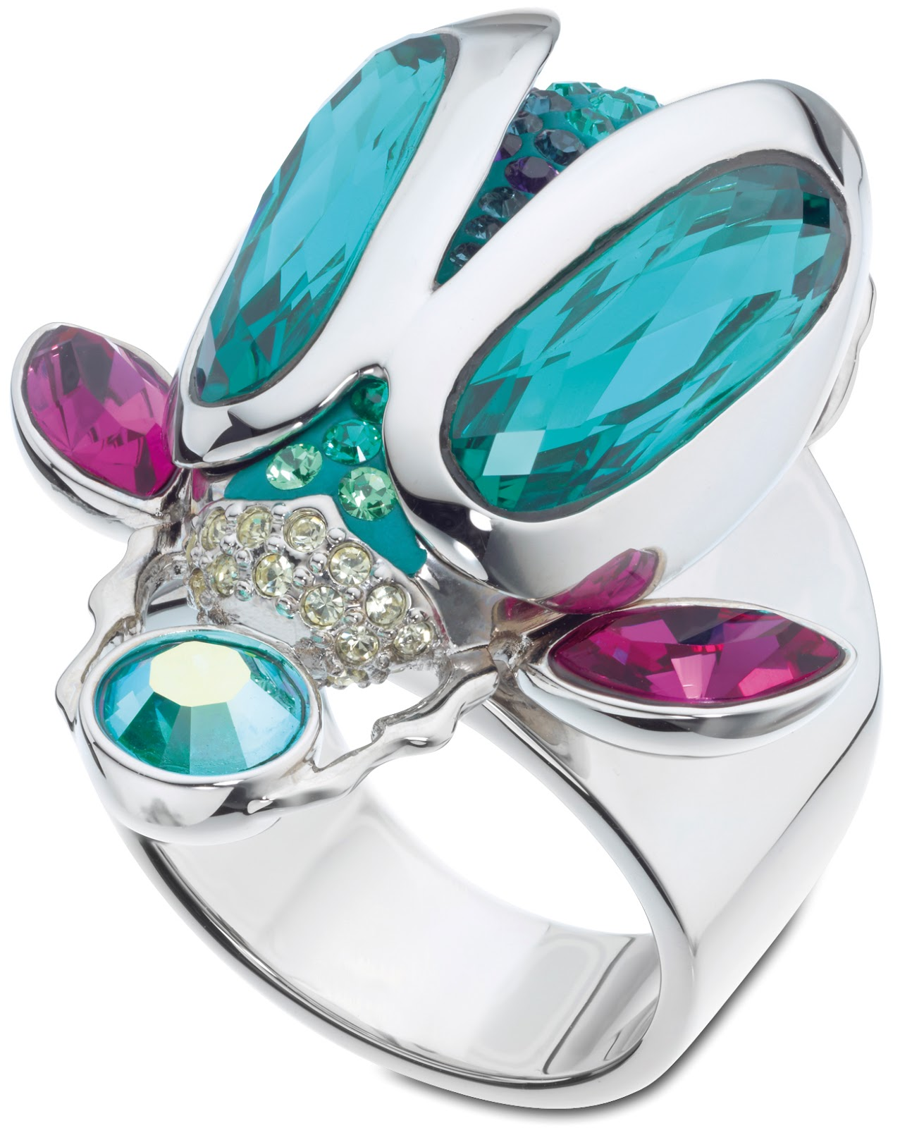 Tropical Paradise translucent ring