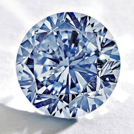 Редкий ярко-голубой бриллиант в 7,59 карата