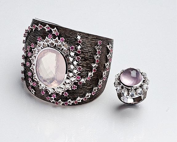 Браслет Imperia и кольцо Imperia из серебра с кварцем.