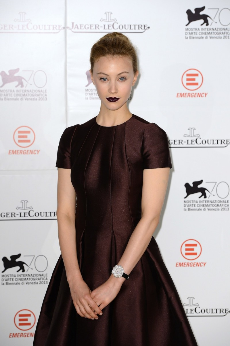 Actress Sarah Gadon wears a Jaeger-LeCoultre watch