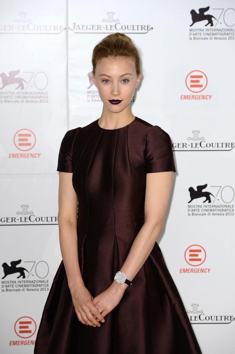 Actress Sarah Gadon wears a Jaeger-LeCoultre watch