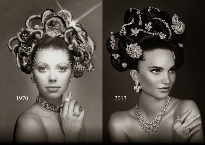 The re-creation of Hair & Jewel comparison