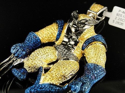 Подвеска «Росомаха» из серебра