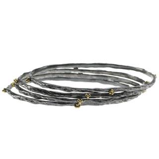 Комплект из тонких браслетов-обручей