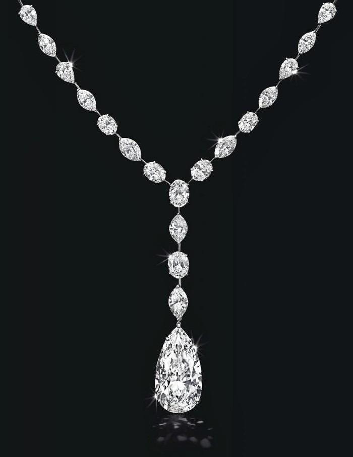 Колье с бриллиантом в 22,12 карата