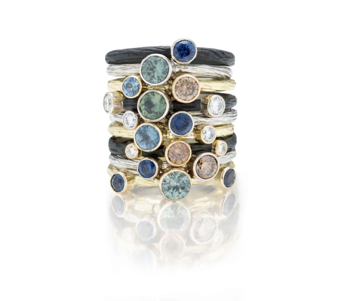Наборные кольца от Сары Грэхам.