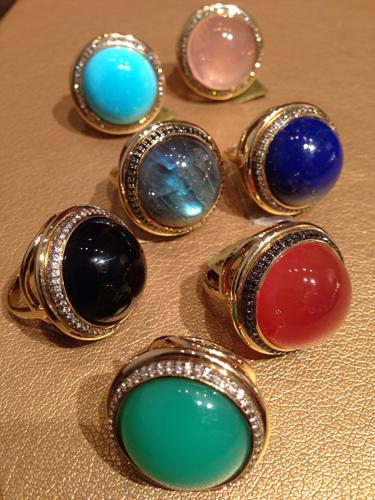 Цветные крупные кольца от Syna