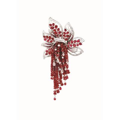 Рубиновая брошь от Dily's Collection