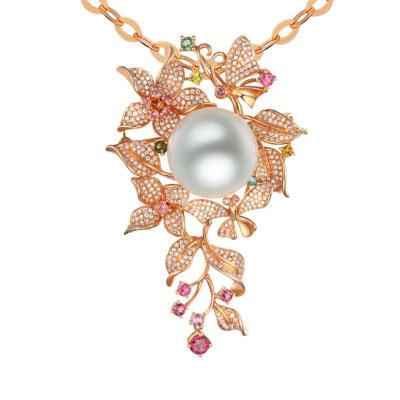 Жемчужная подвеска из 18-каратного золота от Fine Pearl Jewellery Co Ltd
