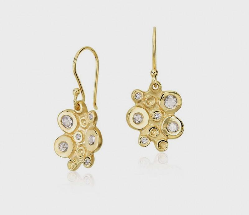 Бриллиантовые серьги Bubble Cluster из 18-каратного золота, $1575