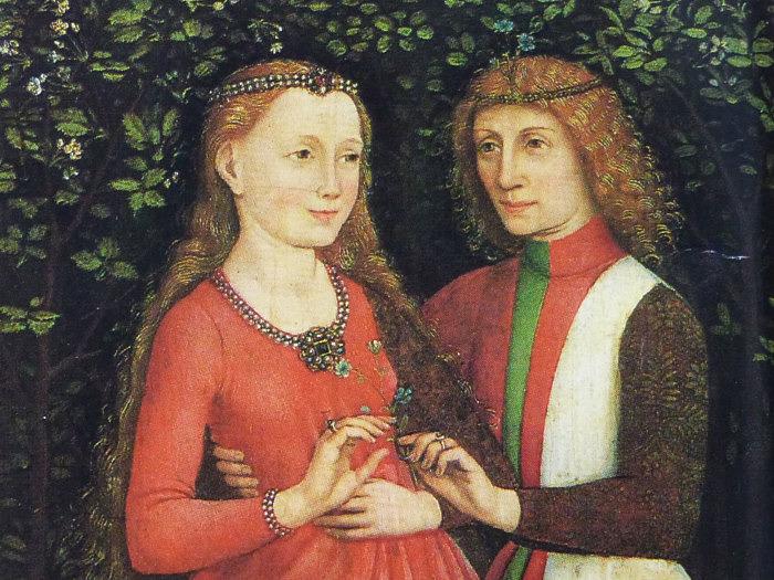 Свадебная пара. Анонимный немецкий мастер, XV век.