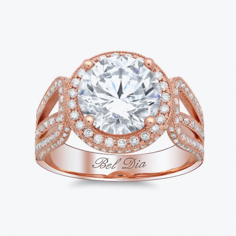 Кольцо Bel Dia из розового золота