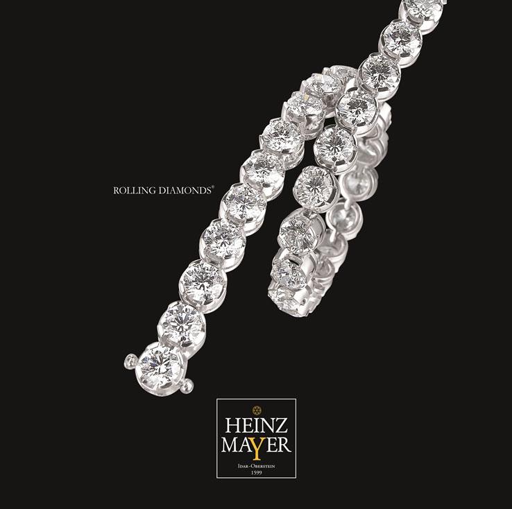 Бриллиантовый браслет Rolling Diamonds из коллекции Rolling Diamonds