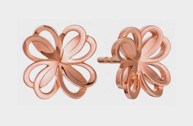 3_Montblanc_Emblem_Trefle_de_Petales_Entrelaces_earstuds_in_pink_gold