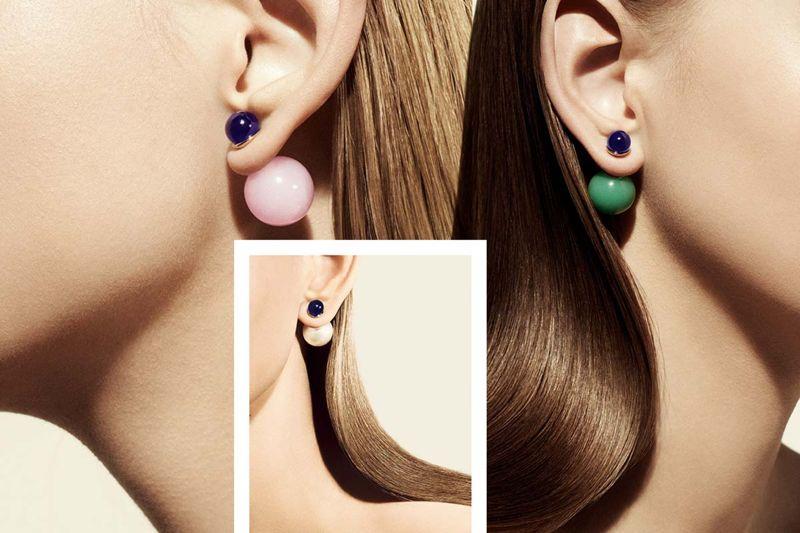 Серьги Mise en Dior.