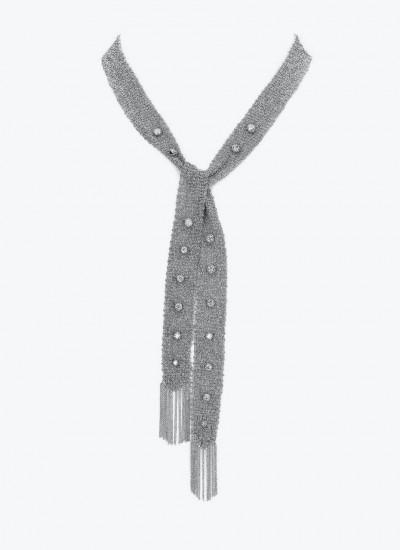 Колье-сеть Entwined In You из белого золота, украшенное бриллиантами.