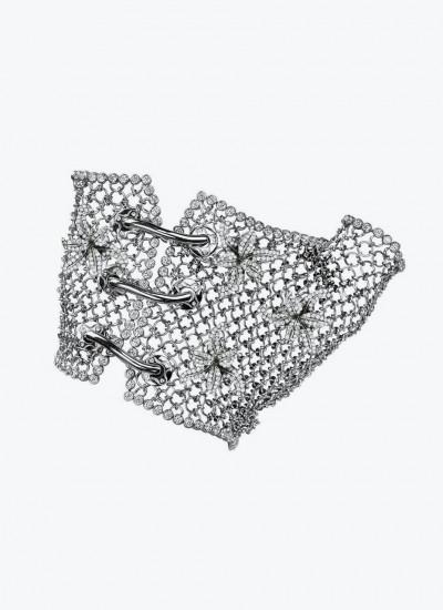 Браслет-перчатка Entwined In You  из белого золота с бесцветными бриллиантами.