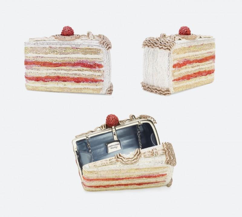 Клатч Cake Slice Crystal Minaudière от Judith Leiber
