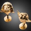Золотые запонки в форме Дарта Вейдера и Йоды