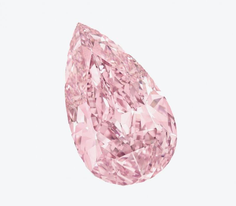 Сиренево-розовый бриллиант весом 8,41 карата