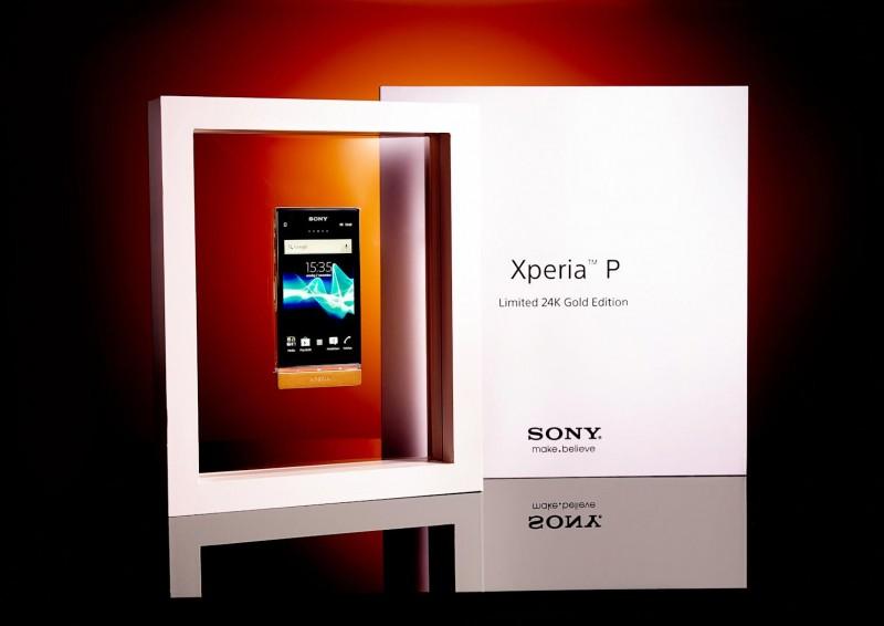 Sony Xperia P в 24-каратном золоте