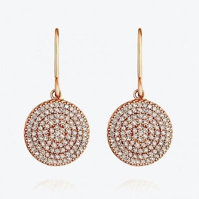Серьги из розового золота с серыми бриллиантами из коллекции Muse