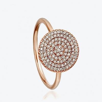Кольцо из розового золота с серыми бриллиантами из коллекции Muse