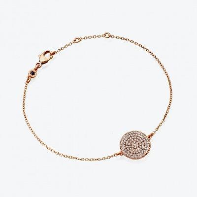 Браслет из розового золота с серыми бриллиантами из коллекции Muse