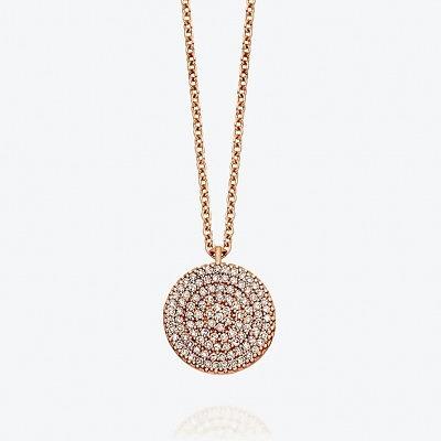 Колье из розового золота с серыми бриллиантами из коллекции Muse