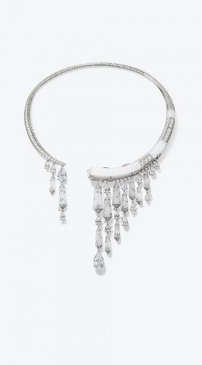 «Ледяное» колье от Chaumet из белого золота с горным хрусталем и бриллиантами