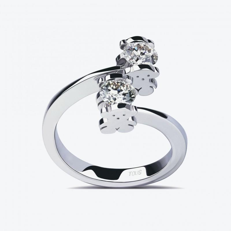 Кольцо TOUS Sweet Diamonds из белого золота с бриллиантами