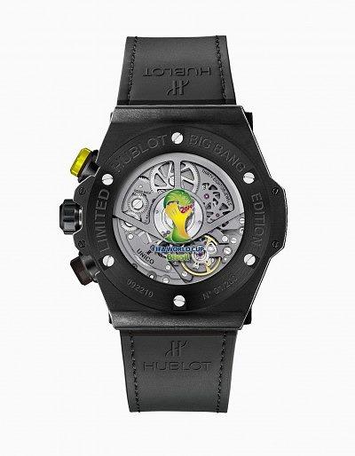 Оборотная сторона часов Big Bang Unico Bi-Retrograde Chrono в черном цвете