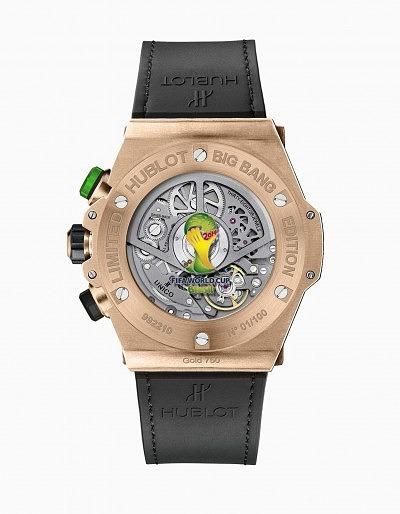 Оборотная сторона часов Big Bang Unico Bi-Retrograde Chrono в цвете King Gold