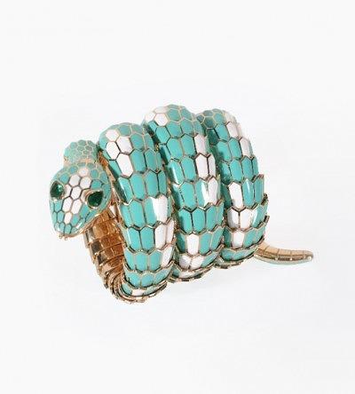 Часы Bulgari Serpenti, которые будут выставлены на аукционе Dreweatts & Bloomsbury в ноябре 2014 года