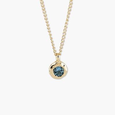 Колье из 14-каратного золота с голубым топазом от Zina Sterling