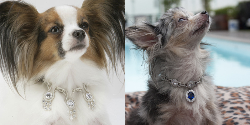 Ошейники Amour Amour и Amour de la Mer из коллекции La Collection de Bijoux от I love Dogs Diamonds