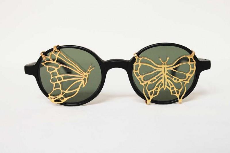 Очки с золотой бабочкой от Авиш Хебрезадех