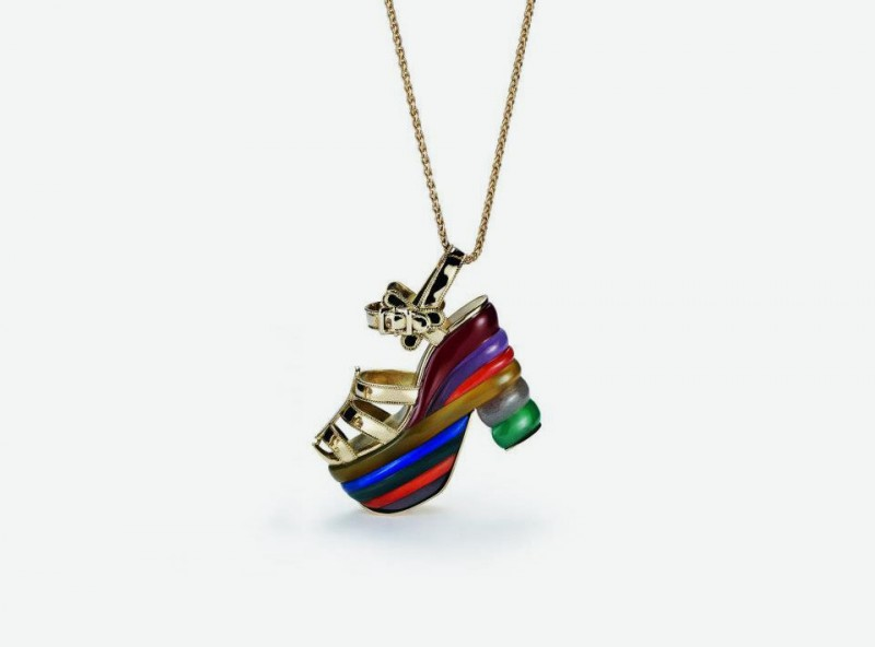 Кулон-туфелька Rainbow от Salvatore Ferragamo Jewels