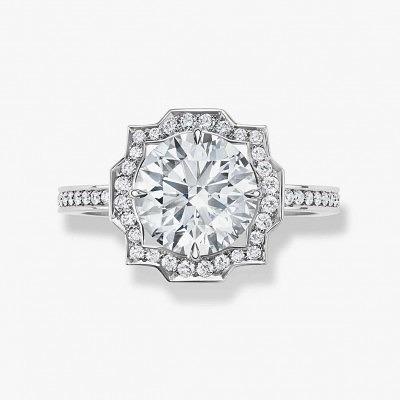 Бриллиантовое винтажное кольцо Belle от Harry Winston