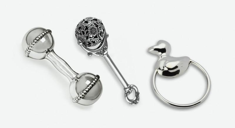 Погремушки из серебра
