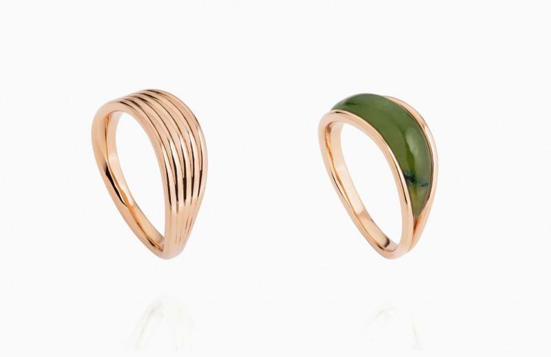Кольца из розового золота из новой коллекции Stream