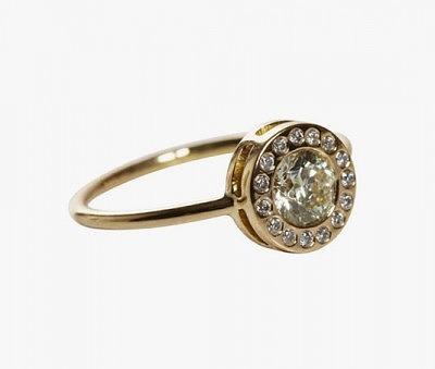 Винтажное кольцо с бриллиантом от Jade Jagger