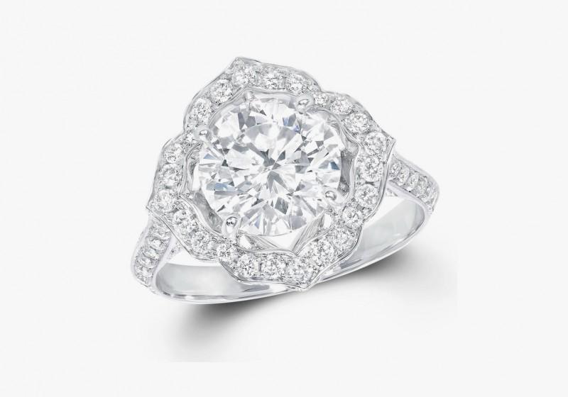 Винтажное кольцо с бриллиантом от Graff