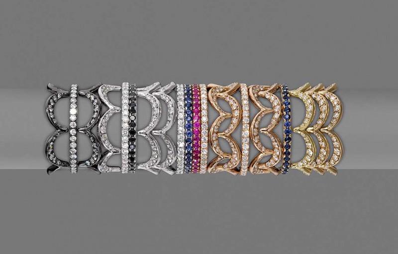 Коллекция колец-конструкторов Jado Crown