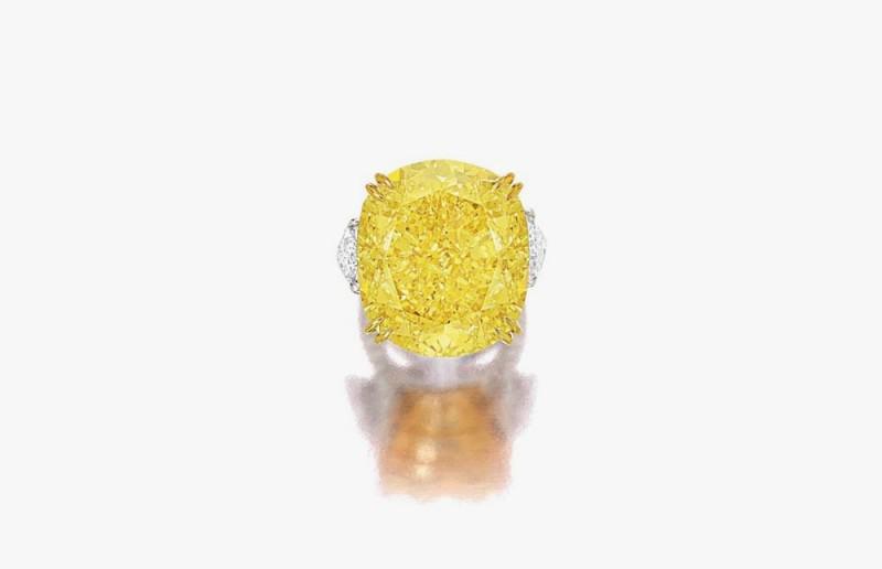 Желтый бриллиант весом 77,77 карата