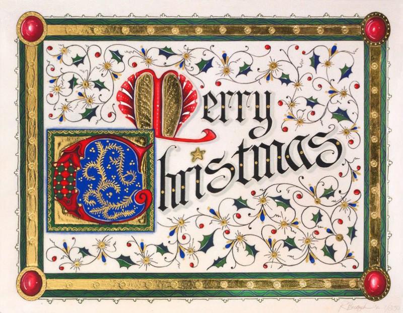 Рождественская открытка от Gilded Age Greetings, стоимостью 4995 долларов
