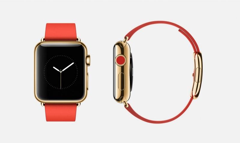 «Умные» часы Apple Watch из 18-каратного желтого золота.